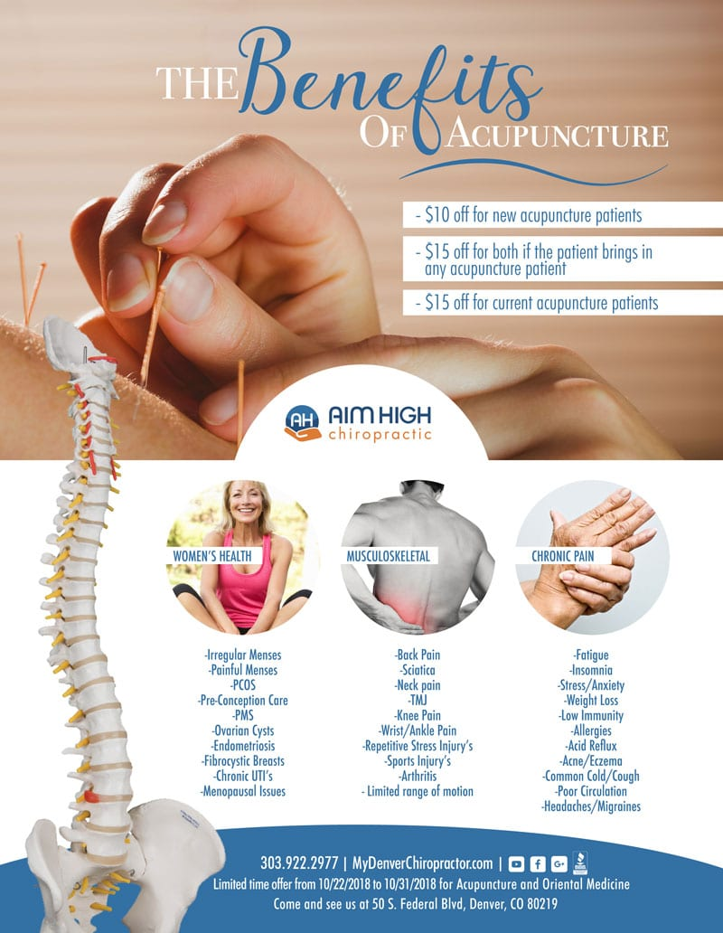 Acupuncture Promotion at Aim High Chiropractic