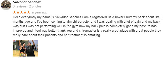 Patient Testimonial at Aim High Chiropractic