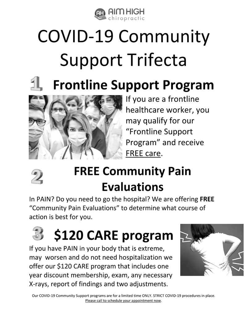 COVID-19 Community Support Trifecta