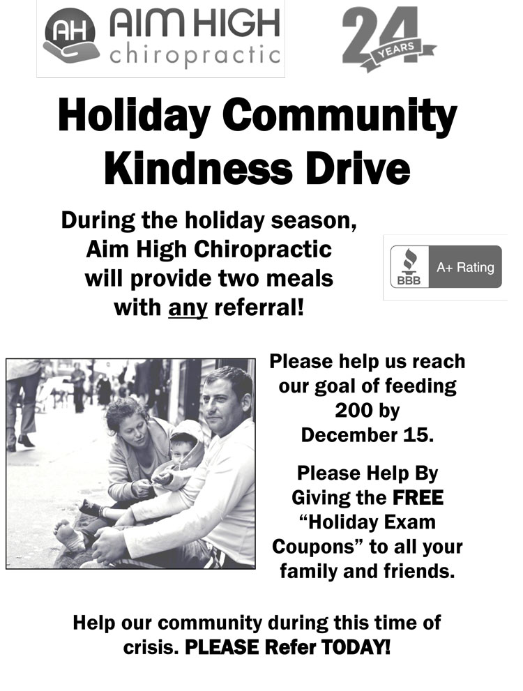 Holiday Community Kindness Drive at Aim High Chiropractic