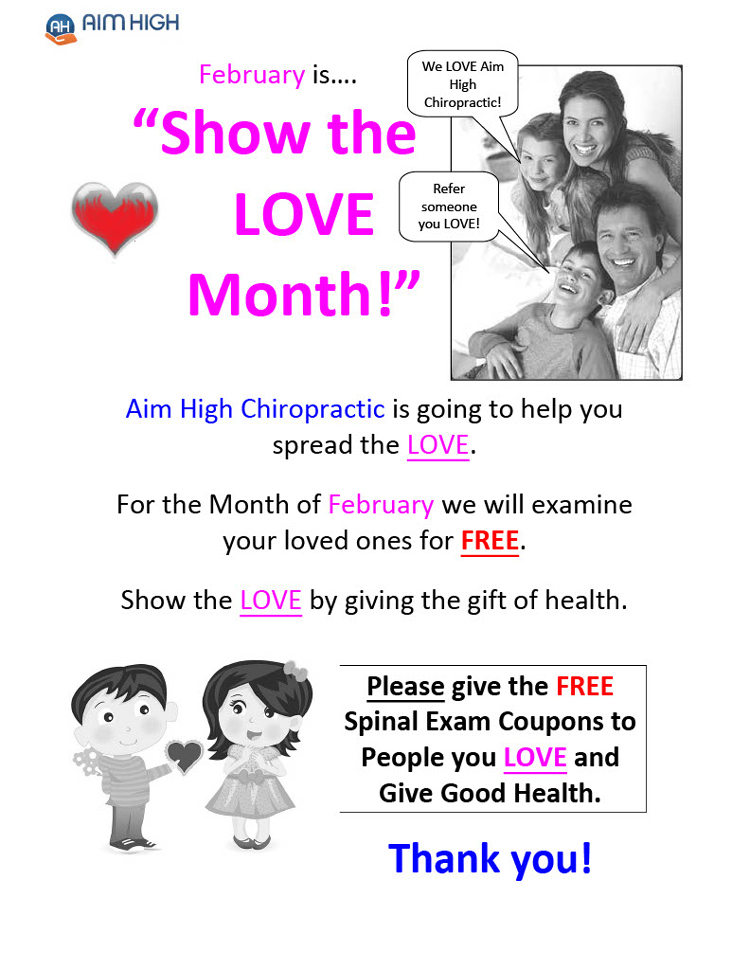 February Special Offer at Aim High Chiropractic