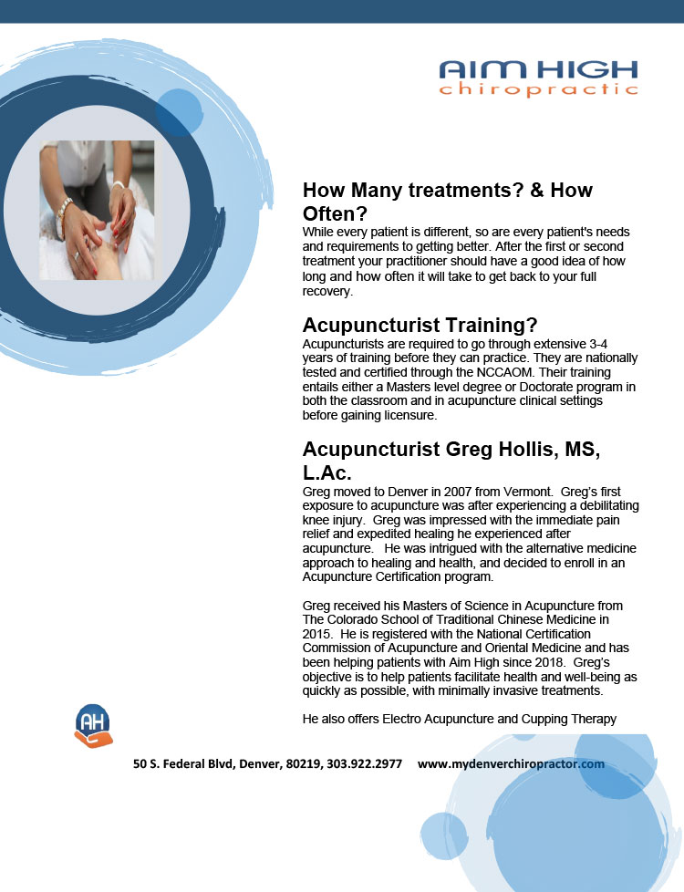 Chiropractic Denver CO Acupuncture