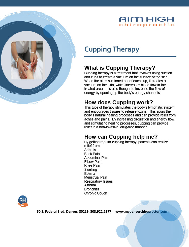 Chiropractic Denver CO Cupping Therapy