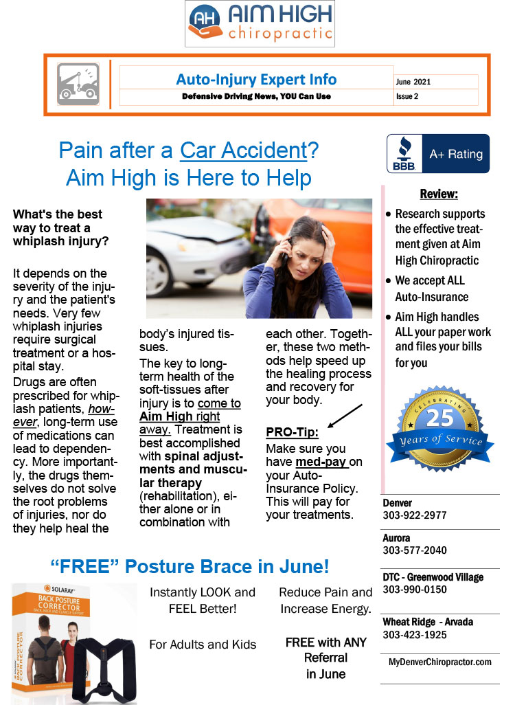 Chiropractic Denver CO Pain After An Accident
