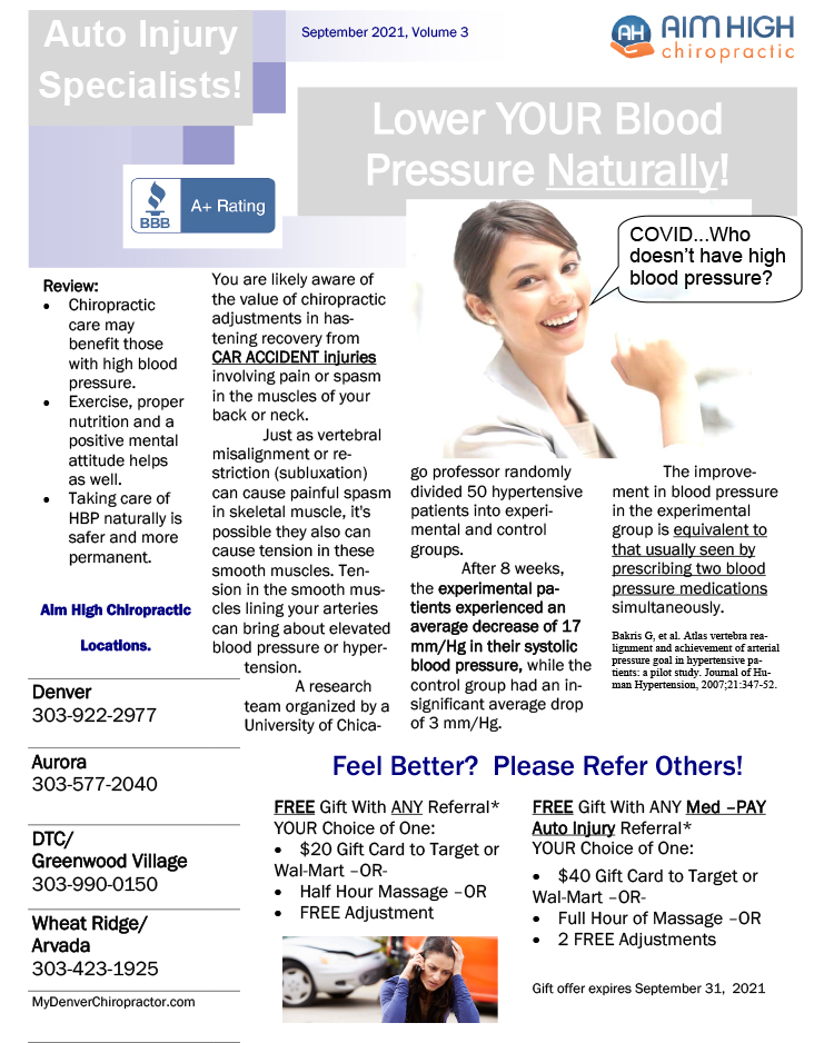 Chiropractic Denver CO Lower Your Blood Pressure